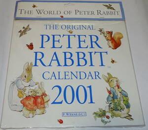 送0 未開封 海外 ピーターラビット カレンダー 2001 PETER RABBIT ビアトリクス・ポター ★条件付でおまけあり