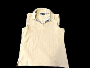 【3点で送料半額・5点で送料無料】あ109 バーバリー ノースリーヴ カットソー トップス ポロシャツ タンクトップ シャツ