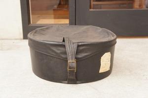 イギリスアンティーク レザーハットボックス/帽子箱/アンティークボックス/古道具/ブロカント/蚤の市/アンティーク箱/ヴィンテージ/什器