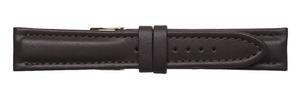 【ミモザ CCM-B カーフマット 日本製】ダークブラウン 牛革ベルト (20mm/22mm)新品