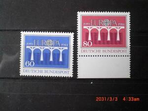 EU25周年・ヨーロッパ切手・架け橋 未使用 2種完 1984年 ドイツ連邦共和国 VF/NH
