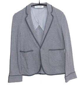 ◆定価1.4万 美品 UNITED ARROWS ユナイテッドアローズ B&Y 1B コットン パイピング テーラードジャケット F グレー