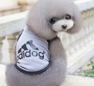 adidog/アディドッグ/ 【グレーL】 夏服 メッシュ タンクトップ 小型犬 S-XXL 小型犬-中型犬 犬服 ドッグウェア ペット服