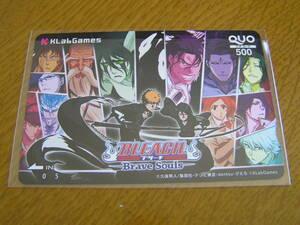 BLEACH ブリーチ Brave Souls クオカード KLab 株主優待オリジナル QUOカード 500円券