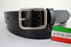 イタリア製牛革使用/一枚革ベルト/帯幅約30mm/高品質/ベーシック/ウエスト105cmまで対応/ITY6