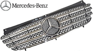 【M's】ベンツ W639 Vクラス ビアノ V350 (前期) 純正品 フロントグリル 正規品 ラジエターグリル 639-880-0285-9120 63988002859120