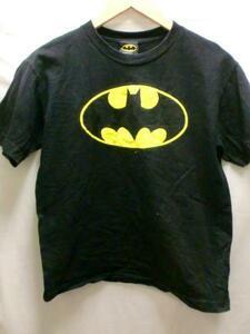 【キッズ】BATMANブラックTシャツ☆USAバットマン映画ムービーXS