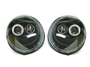 【SALE】VW ニュービートル(-'05) LEDリングヘッドライト/インナーブラック 新品/NEW BEETLE/