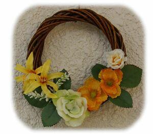 はんどめいど オリジナル 造花アレンジメント フラワーアレンジメント リース インテリア雑貨 癒し雑貨 プレゼント