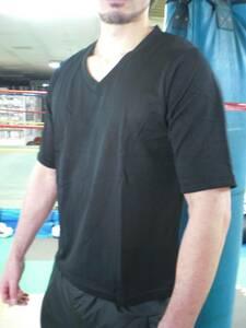 新品 メッシュTシャツ 5分袖 Lサイズ Vネック インナー 放熱効果 通気性 速乾性 涼しい 日焼け止め 釣り アウトドア 仕事用 ウォーキング