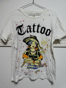 DON ED HARDY Ed Hardy ドン エドハーディー Tシャツ MADE IN USA クリスチャン オードジェー 両面プリント S