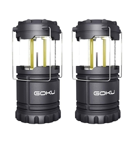 LEDランタン懐中電灯携帯型ポータブル テントライトIPX4防水仕様防災対策2点