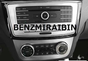 BENZ ベンツ W166X166 GL ML GLS コンソール 中央 オーディオ トリム エアコン カバー パネル トリム ガーニッシュ シルバー AMGなど 2pcs