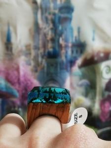 Handmade blue ring