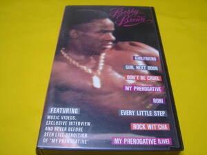 VHSビデオテープ ☆ BOBBY BROWN/ HIS PREROGATIVE (中古 返品不可ジャンク)