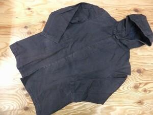 BEAUTY & YOUTH ユナイテッドアローズ メンズ コットンナイロン混 ハリのある素材 比翼 フーディー ジャケット 混コート 紺 サイズM
