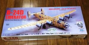 """【ディスプレイモデル】Guillow's製 B-24Dリベレーター(翼長:48.5""""=1232mm)・・・1"""