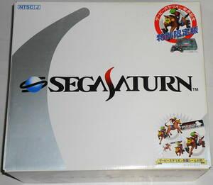 未使用 SEGA SATURN セガサターン本体 スケルトン HST-0022 ダービースタリオン発売記念版 シール付属 ☆条件付未使用非売品コントローラ有