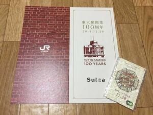 【送料無料】新品・未開封 東京駅開業100周年記念Suica 専用台紙付