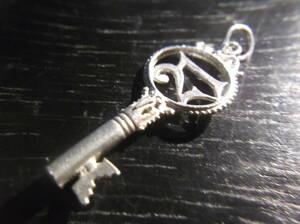 英国アンティーク Silver KEY 21st BIRTHDAY キー 鍵 21歳誕生日プレゼント ネックレスペンダント チャーム フォブ シルバー ビンテージ
