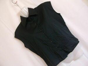 sys27 UNITED COLORS OF BENETTON ノースリーブ シャツ ブラック ■ カジュアルシャツ ■ 無地 シンプル トップス