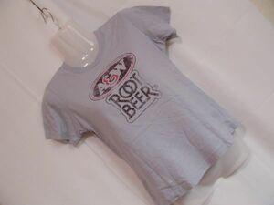 sys44 Voo+Doo 半袖 Tシャツ ライトブルーグレー ■ フロントプリント ■ クルーネック 丸首 カジュアルトップス 綿100%