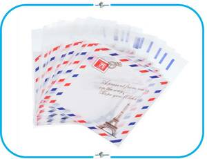 IM169 OPP袋 16枚 エッフェル塔 スタンプ デザイン テープ付 ラッピング クリア 包装 プレゼント ギフト お菓子作り パーティー 誕生日