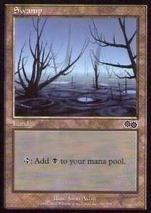 025349-002 US/USG 基本土地 沼/Swamp(341/350) 英1枚