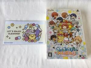 PSVITA うたの☆プリンスさまっ♪MUSIC3 初回限定 ウキウキBOX SAOTOME GAKUEN液晶レンズクリーナー同梱