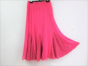 新品  社交ダンス スカート 値下げ 処分 ピンク 細かフリルにキラキラ