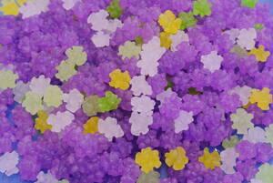 花しょうぶ金平糖クリスタル(どっさり1kg)紫色が映える鮮やか小粒金平糖♪ショッキングカラーの小さなコンペイ糖…【送料込】