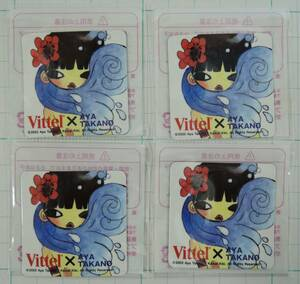 01G-1■タカノ綾 マグネット 4枚■村上隆&KaiKai KiKi カイカイキキ/VITTEL/ヴィッテル 2003未開封