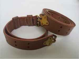 WW2米軍M1ガーランド用初期型スリング 真鍮製金具 複製品