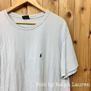 *USA古着*〈Polo by Ralph Lauren〉ラルフローレン ◇* メンズ XL / 半袖 Tシャツ トップス * ロゴ刺繍 ワンポイント 無地☆シンプル