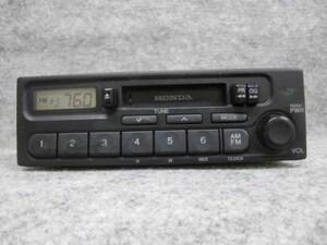ホンダ 純正 カセット テープ ラジオ オーディオ デッキ 39100-S2K-0030 PH-1617G-B AM FM 1DIN 0087640 4LT0