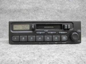 ホンダ 純正 カセット テープ ラジオ オーディオ デッキ 39100-S2K-0030 PH-1617G-B AM FM 1DIN 0073241 4LT0