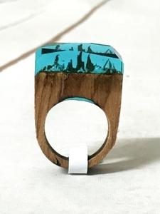 Magical resin ring Bohemian