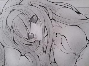 即決 ★同人手描きイラスト 涼宮ハルヒの消失 涼宮ハルヒ 直筆一点物 原画 約B5サイズ19.2cm×23.6cm★