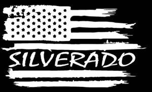シボレー シルバラード アメ車 アメリカ国旗 星条旗 ステッカー 色変更OK 車 バイク トラック インテリア ヘルメット デカール 防水