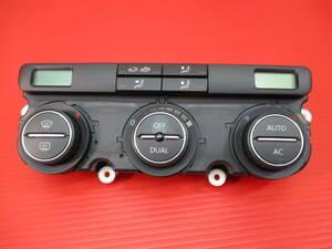 [RMDup92254] ゴルフヴァリアント オート エアコン スイッチ 美品 1K0907044CT (ゴルフ5/フルオート/DUAL/空調スイッチ/1KAXX/1KBLG/1KBMY)