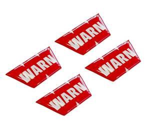 Warn 電動 ウインチ 4WD 4枚セット 4cm x 1,7cm 車 ステッカー デカール カッティングステッカー 送料無料