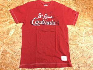 ユニクロ UNIQLO × MLB公式 セントルイス・カージナルス Cardinals 半袖Tシャツ メンズ お洒落な二重プリント 野球 S 赤