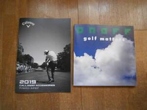 Callaway キャロウェイ  ゴルフ ONOFF オノフ 製品カタログ 2019年 2冊セット クラブ ウェア バッグ アイアン