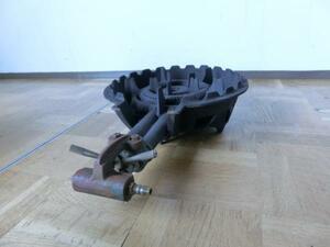 中古厨房 鋳物 卓上コンロ バーナー2重 φ330 1口 LPガス プロパンガス W330×D500×H120mm