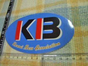 KBA/Kansai Bass Association/バス釣り/ブラックバス/ステッカー/シール ※ ヤフーショッピングストア/レア物商会・健美堂でも大量出品中!