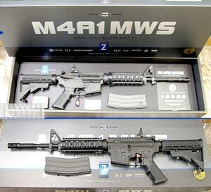 ○ 即決 マルイ【M4A1 MWS リアルガスBLK Zシステム】