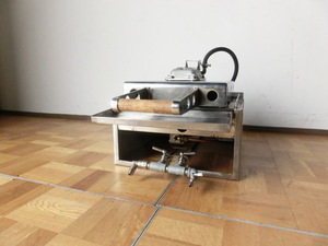 中古厨房 イカ焼き いか焼器 プレス機 都市ガス 厚み10mm W410 D415(700) H210(430)