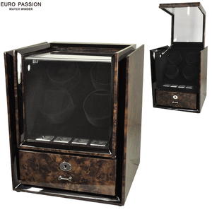 EURO PASSION/ euro passion W145 4ps.@ to coil 8ps.@ storage high class Winder watch Winder black new goods * free shipping