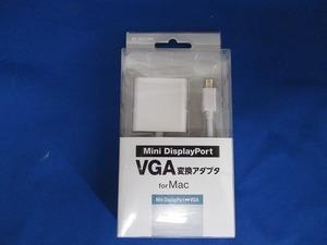 T) エレコム ELECOM MAC Mini DisplayPort⇔VGA変換アダプタ 開封済み 未使用品 (管理番号 T-190032)