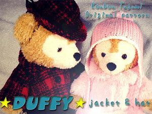 ■ジャケット&ハット型紙■ダッフィー&シェリーメイ■中折れハット・帽子・コート・ニット帽■服・衣装・コスチューム・ディズニー■DS44